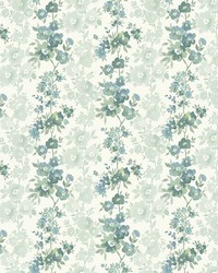 Charlise Teal Floral Stripe by