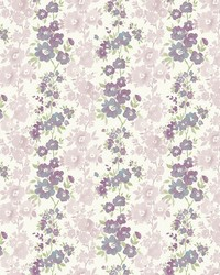 Charlise Plum Floral Stripe by