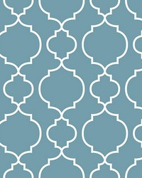 Desiree Blueberry Quatrefoil by