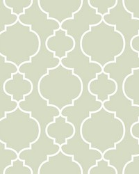 Desiree Sage Quatrefoil by