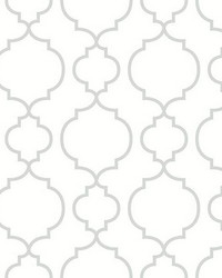 Desiree White Quatrefoil by
