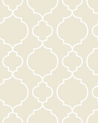 Desiree Taupe Quatrefoil by