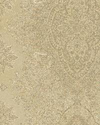 Benedict Gold Ornate Paisley Stripe by