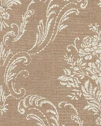 Manor Copper Floral Damask by