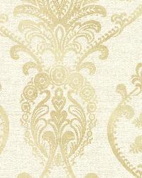 Noble Cream Ornate Damask by
