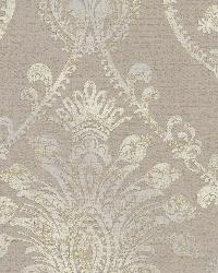 Noble Taupe Ornate Damask by