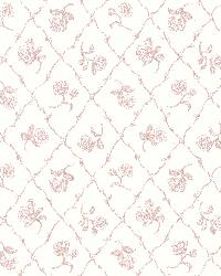 Marianne Rose Rose Trellis by  Brewster Wallcovering