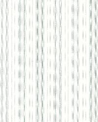 Anne Teal Ticking Stripe by  Brewster Wallcovering