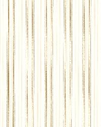 Anne Gold Ticking Stripe by  Brewster Wallcovering