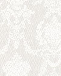Sophia  Grey Damask by  Brewster Wallcovering