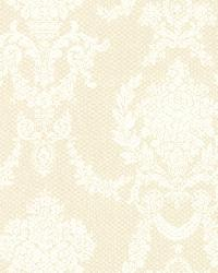 Sophia  Yellow Damask by  Brewster Wallcovering