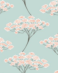 Banyan Light Blue Trees Wallpaper by