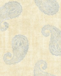 Kashmir Yellow Paisley Wallpaper by