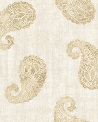 Kashmir Cream Paisley Wallpaper by