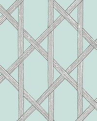 Mandara Light Blue Trellis Wallpaper by