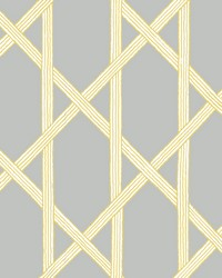 Mandara Grey Trellis Wallpaper by