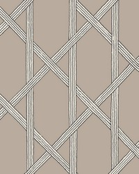 Mandara Taupe Trellis Wallpaper by