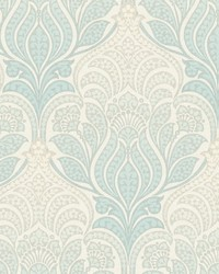 Twill Sage Damask Wallpaper by