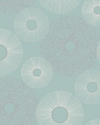 Eternity Blue Geometric Wallpaper by