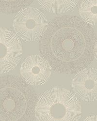 Eternity Taupe Geometric Wallpaper by