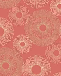 Eternity Coral Geometric Wallpaper by