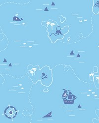 Sharks Blue Map by