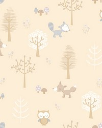 Forest Friends Taupe Animal by