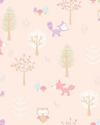 Forest Friends Pink Animal by