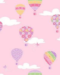 Hot Air Balloons Pink Balloons by
