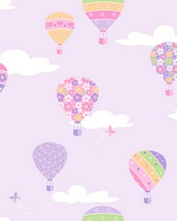 Hot Air Balloons Lilac Balloons by