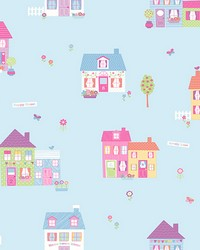 Happy Street Blue Houses by