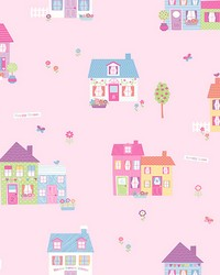 Happy Street Pink Houses by