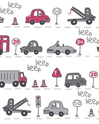 Beep Beep  Grey Cars by