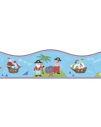 Pirates Blue Border by