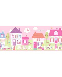 Happy Street Village Pink Border by