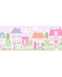 Happy Street Village Purple Border by