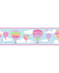 Balloons Blue Border by