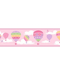 Balloons Pink Border by