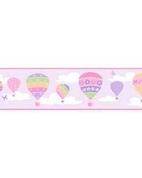 Balloons Lilac Border by