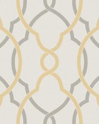 Sausalito Yellow Lattice Wallpaper by