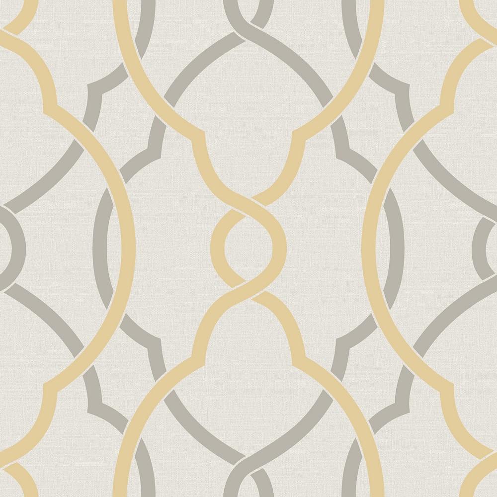 Yellow Trellis Wallpaper: Sausalito Yellow Lattice Wallpaper Brewster Wallcovering