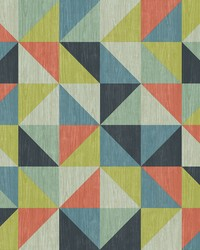 Puzzle Blue Geometric Wallpaper by
