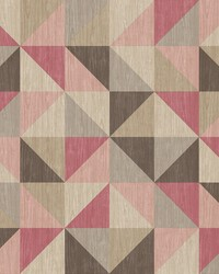 Puzzle Pink Geometric Wallpaper by