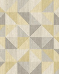 Puzzle Yellow Geometric Wallpaper by
