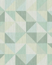 Puzzle Green Geometric Wallpaper by