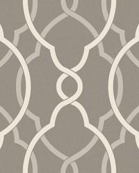 Sausalito Grey Lattice Wallpaper by