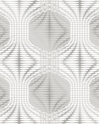 Optic Silver Geometric Wallpaper by