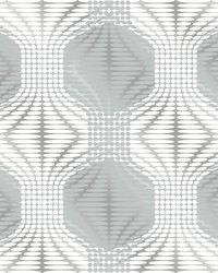 Optic Blue Geometric Wallpaper by