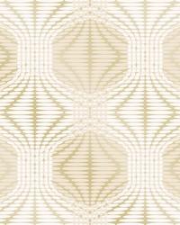 Optic Gold Geometric Wallpaper by