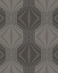 Optic Brown Geometric Wallpaper by